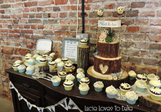 Bark Woodland Cake & Cupcakes New Forest Barn Wedding