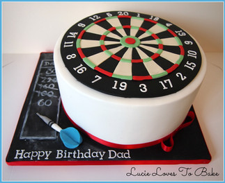 Darts Birthday Cake