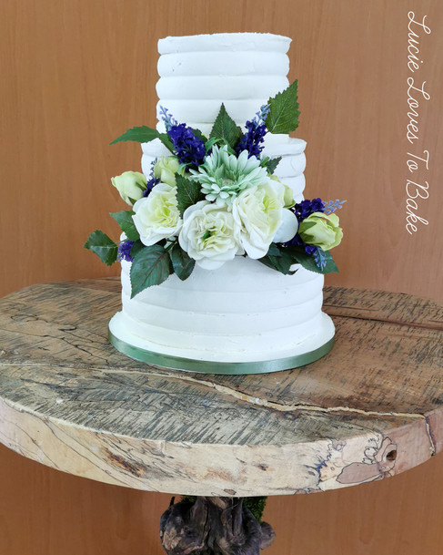 Rustic Buttercream Vegan Wedding Cake
