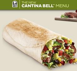 Taco Bell Cantina Steak Burrito 2013e