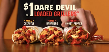 Taco Bell Daredevil Loaded Grillers 2015