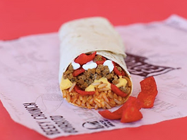 Taco Bel Beefy Crunch Burrito 2017
