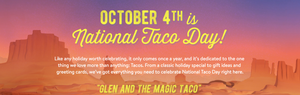 October 4th is National Taco Day