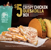 Taco Bell Crispy Chicken Quesadilla Box 2017