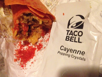 Taco Bell Firecracker Burrito with Pop R