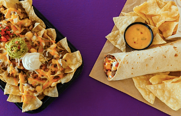 Taco Bell Steakhouse Nachos and Burrito 2016