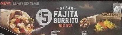 Taco Bell Fajita Burrito and Quesadilla