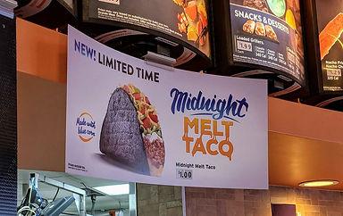 Taco Bell Midnight Melt Taco