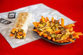 Taco Bell Rattlesnake Fries and Burrito