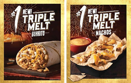 Taco Bell Triple Melt Nachos and Burrito