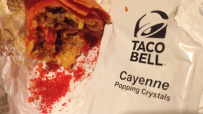 FIRECRACKER BURRITTO at Taco Bell! Pop-rock Topping