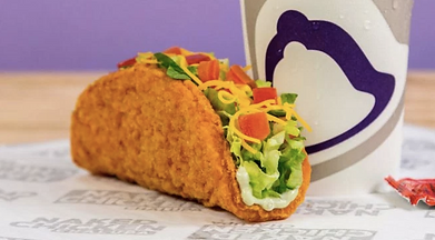 Taco Bell Naked Chicken Chalupa and drink