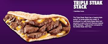 Taco Bell Triple Steak Stack 2013