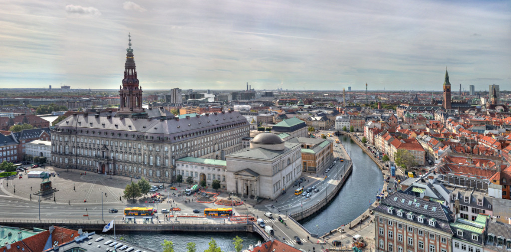 Christiansborg Palace and city view