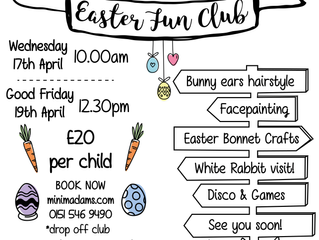 Mini Madams Easter Holiday Events and Workshops