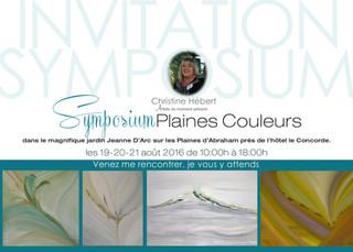 Symposium Plaines couleurs