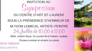 Symposium  DU CENTRE D'ART ST-LAURENT