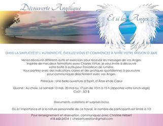 Atelier «Découverte Angélique»