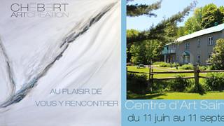 Expositions des œuvres de Chébert au Centre d'Art Saint-Laurent, Ile d'Orléans
