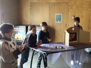 Wereldklas 3LB nam deel aan de workshop De Bewaarde zee. We leerden over het milieu en zorg dragen v
