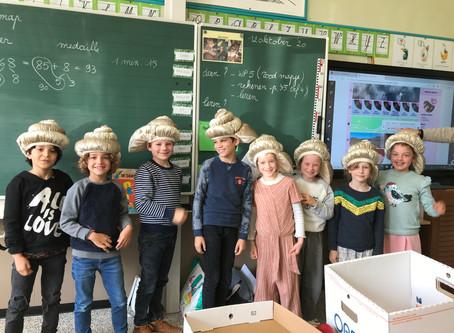 3LA-3LB: Tijdens de muzo les leren we een liedje over een slakje...