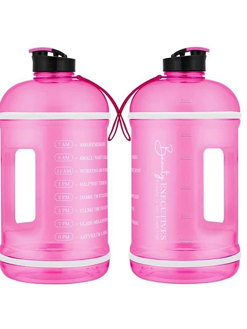 Pink Make Me Skinny Gallon Inspirational Water Jug