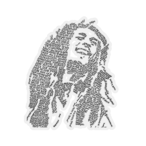 Bob Marley Kiss-Cut Stickers