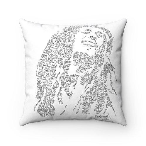 Bob Marley Spun Polyester Square Pillow Case