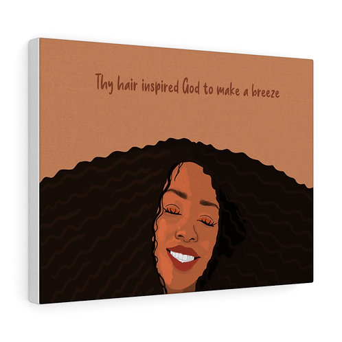 Thy Hair is Inspirational Canvas Gallery Wraps