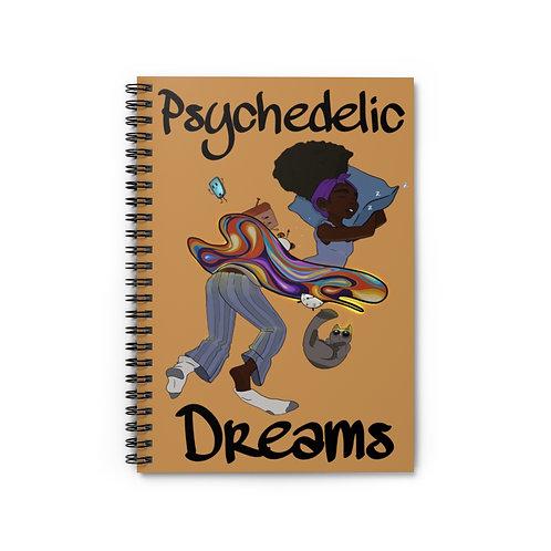 Psychedelic Dreamer Spiral Notebook - Ruled Line