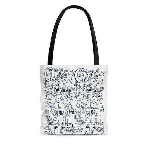 Life in Doodles Tote Bag