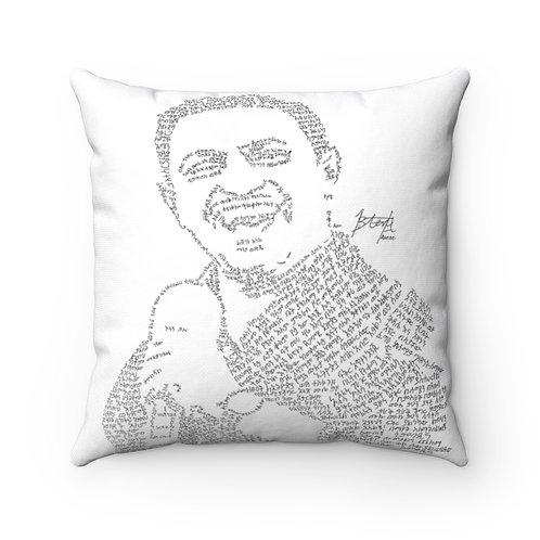 Teddy Afro Spun Polyester Square Pillow Case