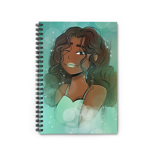 Pretty in Green Spiral Notebook - Ruled Line