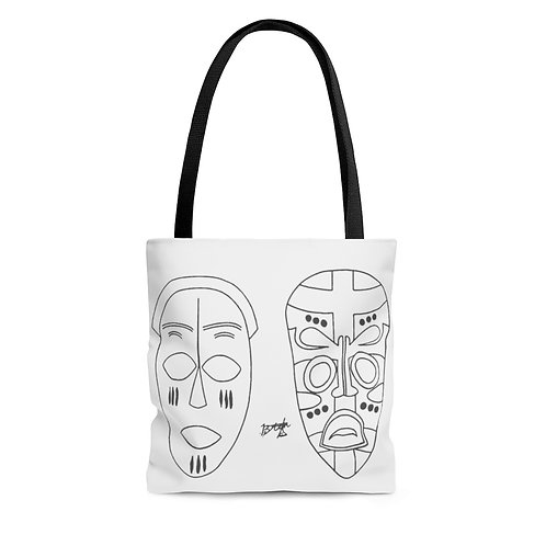 African Style Masked Tote Bag