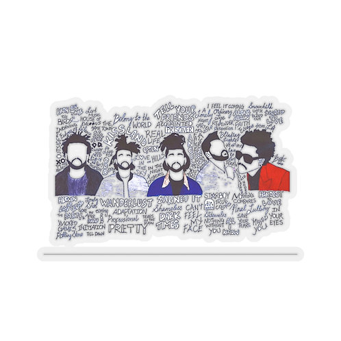 Evolution of the Weeknd Kiss-Cut Stickers