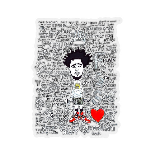 Cole World Kiss-Cut Stickers