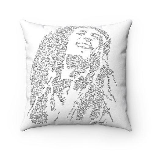 Bob Marley Square Pillow