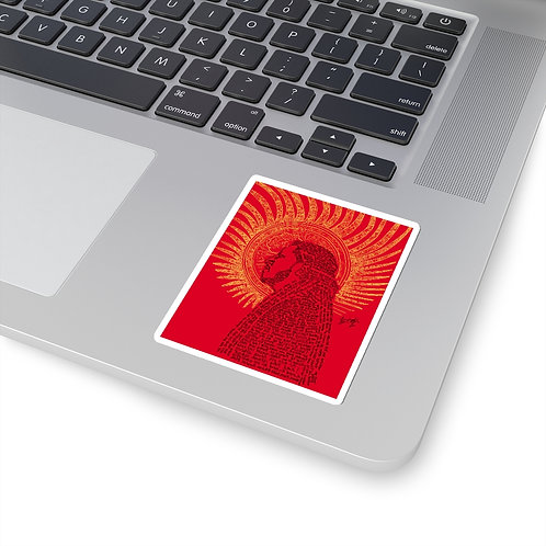 Rophnan in Red Kiss-Cut Stickers