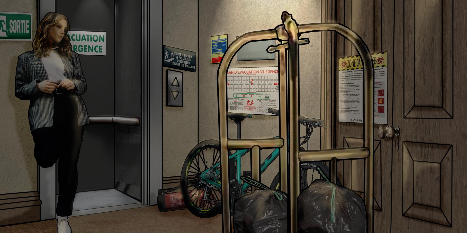 Apocalipstick Hallway Visual