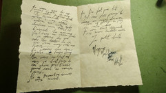 Scribbled French Love letter - 1700s France