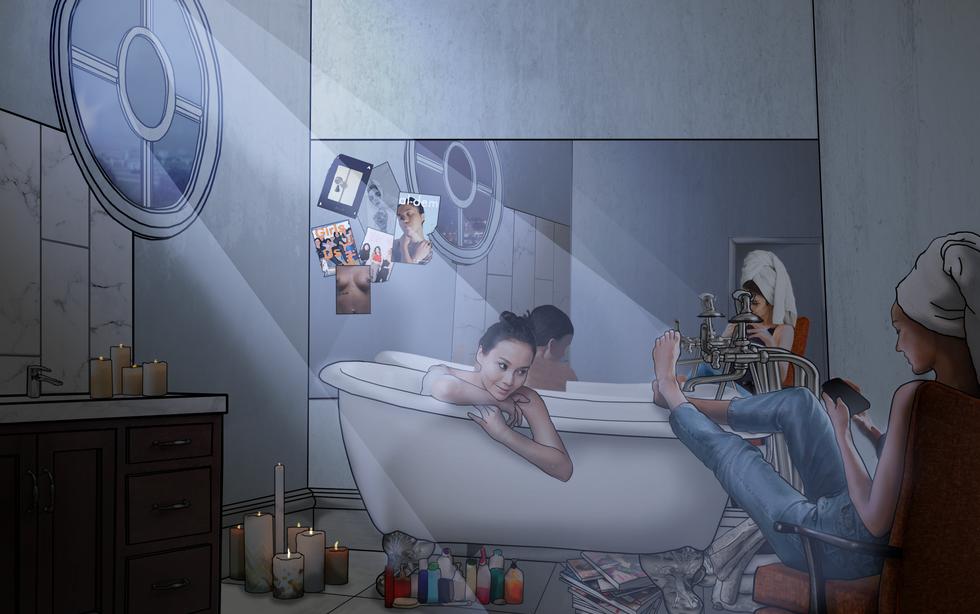 Apocalipstick Bathroom Visual