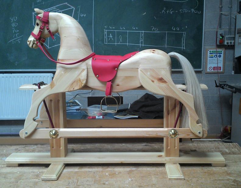 Hand Carved Rocking Horse