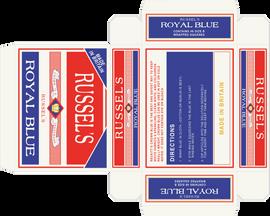 Russel's Royal Blue Packaging
