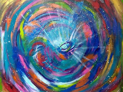 Ojo del Cosmos 120 x 100 cm
