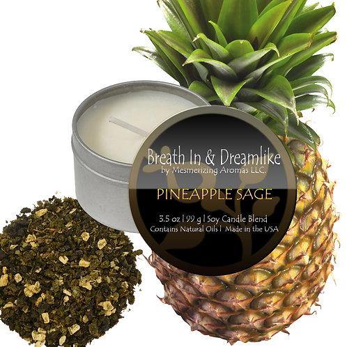 3.5 oz Pineapple Sage Travel Candle