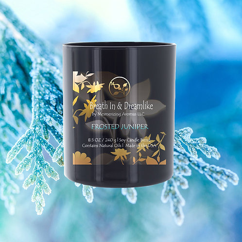 8.5 oz Frosted Juniper Candle