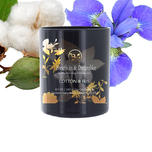 8.5 oz Cotton & Iris Candle