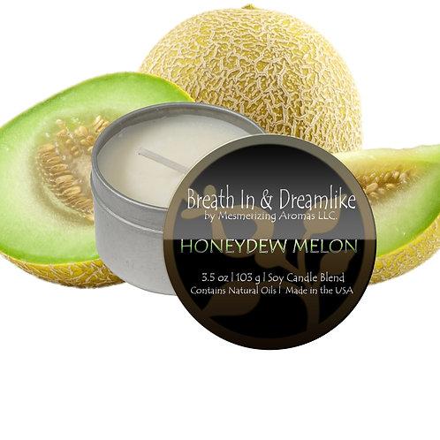 3.5 oz Honeydew Melon Travel Candle