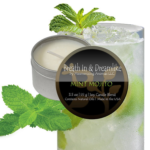 3.5 oz Mint Mojito Travel Candle