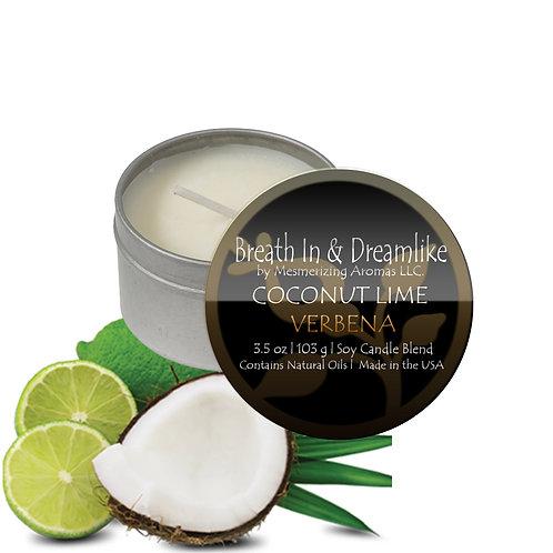 3.5 oz Coconut Lime Verbena Travel Candle
